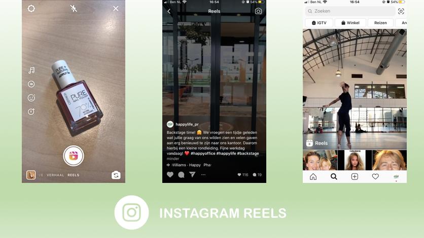 Nieuwe functie: Instagram Reels